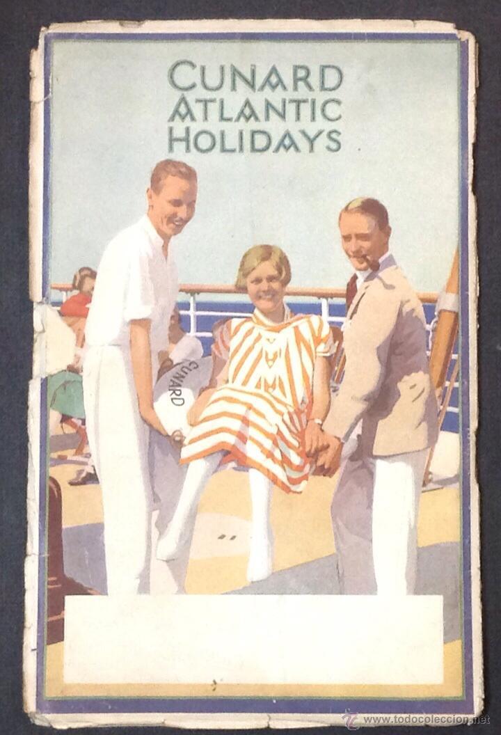 Líneas de navegación: CUNARD ATLANTIC HOLIDAYS. TOUR USA & CANADA. 1926. - Foto 10 - 44138464