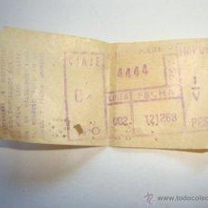 Líneas de navegación: ANTIGUO BILLETE TRANVIA TREN FERROCARRIL ?. Lote 45107632