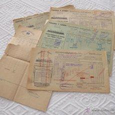 Líneas de navegación: LOTE Nº 4 DE 5 CONOCIMIENTOS DE EMBARQUE NAVIERAS YBARRA Y TRASATLANTICA 1890 Y 1939. Lote 45914168