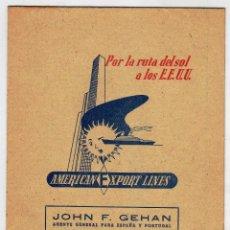 Líneas de navegación: AMERICAN EXPORT LINES. 1954. BUQUES Y MAPA FERROCARRILES. Lote 46447657