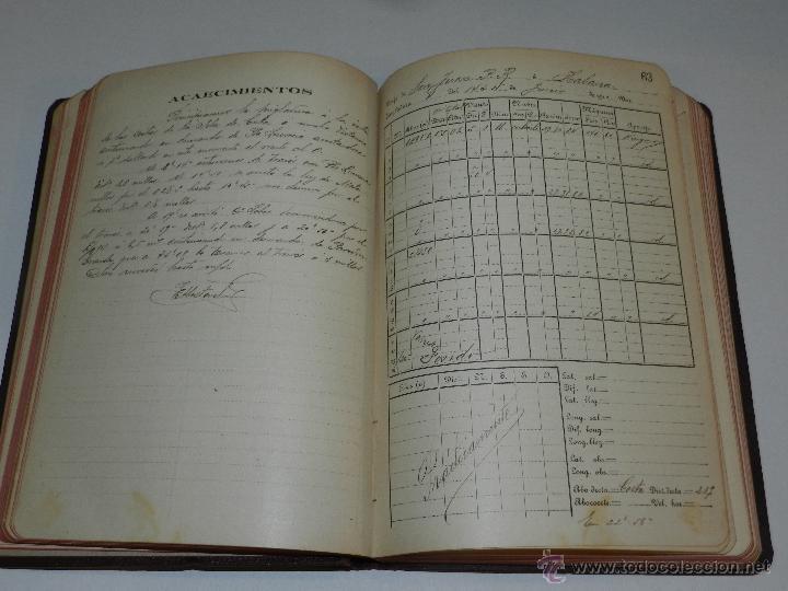 Líneas de navegación: LIBRO DIARIO DE NAVEGACION - LINEA DE VAPORES PINILLOS 1911, HABANA, PUERTO RICO, VALENCIA, CADIZ , - Foto 5 - 47576581