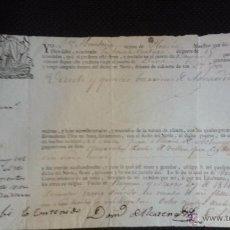 Líneas de navegación: CONOCIMIENTO EMBARQUE. FECHADO EN BAYONA EN 1811, VECINO DE PLENCIA. NAVIO LA BUENA VENTURA. DEVA. Lote 48973420