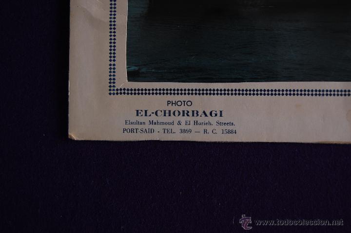 Líneas de navegación: FOTO DEL CARGUERO GUERNICA DE LA NAVIERA VIZCAINA EN PORT-SAID (EGIPTO). Y FOLIO MEMBRETADO. AÑOS 50 - Foto 6 - 49057455