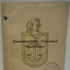 Líneas de navegación: COMISARIADO ESPAÑOL MARÍTIMO. LISTA DE COMISARIOS DE AVERÍAS. AÑOS 50 / CURIOSIDAD !!. Lote 49376793