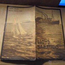 Líneas de navegación: MANUAL CONDICIONES Y TARIFAS DE PASAJE - LLOYD SABAUDO 1910 LINEAS REGULARES ITALIA - BRASIL - PLATA. Lote 49450551