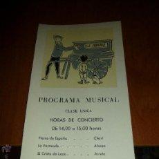 Líneas de navegación: BONITO PROGRAMA MUSICAL DEL BARCO CABO SAN ROQUE, YBARRA, MEDITERRANEO-BRASIL-PLATA, 26 X 13 CM.. Lote 50338165