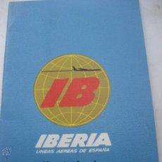 Líneas de navegación: IBERIA. LINEAS AEREAS DE ESPAÑA. HORARIOS LOCALES 1970. BARCELONA. Lote 50507208