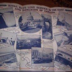 Líneas de navegación: ROYAL BLUE LINE - MOTOR TOURS - SERVICE NEW YORK - GUIA PLEGADA DE TOURS DE LINEAS AUTOBUSES - 1930. Lote 50522065