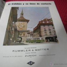 Líneas de navegación: FOLLETO EL TROLEBÚS S.A.KUMMLER & MATTER. Lote 50849784