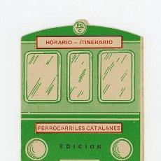 Líneas de navegación: FERROCARRILES CATALANES, HORARIO - ITINERARIO EDICION 1974 (MUY RARO). Lote 50852511