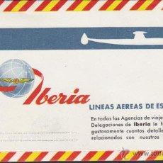 Líneas de navegación: SOBRE CARTA LINEAS AEREAS DE ESPAÑA IBERIA . Lote 56268462