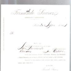 Líneas de navegación: CARTEL. TAMAÑO A4. VAPOR SAN FERNANDO CON SALIDA PARA FRANCIA. 1901. Lote 52812164