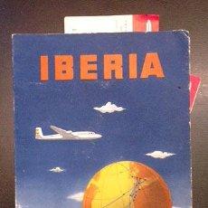 Líneas de navegación: IBERIA . CARPETA DE VUELO, CON 5 BILLETES USADOS DE PASAJEROS. 1964-1967-1972. Lote 53280594