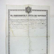 Líneas de navegación: ANTIGUA DOCUMENTACION. BUQUE ESPAÑOL. NAUTICA. MARINA. TRAVESIA BARCELONA MALAGA. CUBA. 1840. ESPAÑA. Lote 53661134
