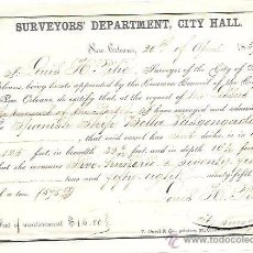 Líneas de navegación: NUEVA ORLEANS 1859. BARCO BELLA VASCONGADA. CERTIFICADO DE CARACTERÍSTICAS DEL BARCO.. Lote 53970410