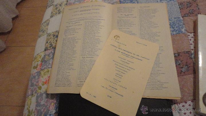 Líneas de navegación: COMPAÑIA TRASATLANTICO ESPAÑOLA.S.A.VAPOR CORREO MARQUES DE COMILLAS.LISTADO DE PASAJEROS.1957. - Foto 2 - 54135064