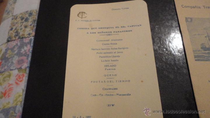 Líneas de navegación: COMPAÑIA TRASATLANTICO ESPAÑOLA.S.A.VAPOR CORREO MARQUES DE COMILLAS.LISTADO DE PASAJEROS.1957. - Foto 7 - 54135064