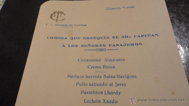 Líneas de navegación: COMPAÑIA TRASATLANTICO ESPAÑOLA.S.A.VAPOR CORREO MARQUES DE COMILLAS.LISTADO DE PASAJEROS.1957. - Foto 8 - 54135064