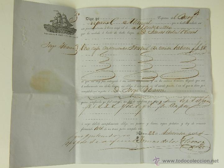 DO-042. CONJUNTO DE DIVERSA DOCUMENTACIÓN NAVAL. PAPEL. ESPAÑA. MEDIADOS XIX. (Coleccionismo - Líneas de Navegación)