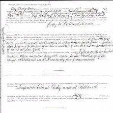 Líneas de navegación: CONTRATO DE FLETAMENTO DEL BARCO J´AUNCE. CARGA SAL A GRANEL. DESDE CADIZ A PORTLAND. 1873. Lote 54799597
