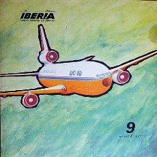Líneas de navegación: IBERIA BOLETÍN INFORMATIVO DE OPERACIONES Nº 9. AGOSTO 1971. Lote 54838638