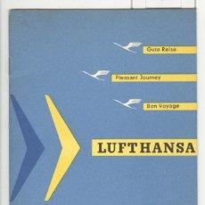 Guía Lufthansa. lineas aereas. años 50. en español