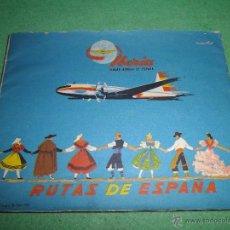 Líneas de navegación: PRECIOSO FOLLETO IBERIA LINEAS AEREAS DE ESPAÑA TURISTICO 5 RUTAS ORIGINAL1960 MID CENTURY. Lote 55057627