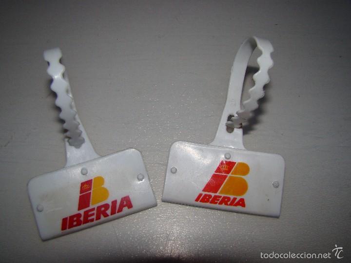 Antiguas etiquetas Identificadoras de maletas IBERIA, usado segunda mano