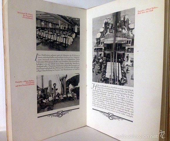 Líneas de navegación: Hamburg-New York (1925). Folleto de los cruceros. Fotos huecograbado. Trasatlánticos Cruceros - Foto 2 - 55388828
