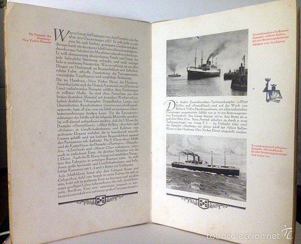 Líneas de navegación: Hamburg-New York (1925). Folleto de los cruceros. Fotos huecograbado. Trasatlánticos Cruceros - Foto 3 - 55388828