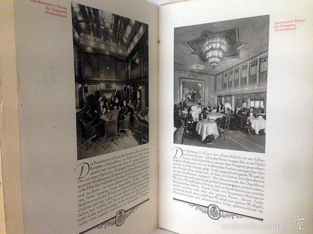 Líneas de navegación: Hamburg-New York (1925). Folleto de los cruceros. Fotos huecograbado. Trasatlánticos Cruceros - Foto 4 - 55388828