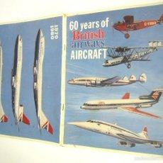 Linee di navigazione: 60 YEARS OF BRITISH AIRWAYS AIRCRAFT 1919 - 1980 AVIONES AVIACION. Lote 55869550