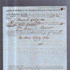 Líneas de navegación: CONTRATO DE FLETAMENTO Y CONDICIONES. BARCO VASCONGADA. VIAJE NUEVA ORLEANS A CADIZ. 1859. LEER. Lote 55897423
