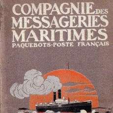 Líneas de navegación: COMPAGNIE DES MESSAGERIES MARITIMES - PAQUEBOTS POSTE FRANÇAIS (1907). Lote 56463645