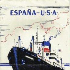 Líneas de navegación: FECHAS DE SALIDA DE *UNITED STATES LINES*. 9 DE DICIEMBRE DE 1957.. Lote 56616266