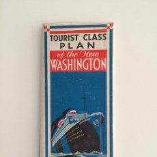 Linhas de navegação: PLANO DE ACOMODACION BARCO NEW WASHINGTON 1933 UNITES STATES LINES. Lote 56810459
