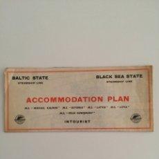 Linhas de navegação: PLANO DE ACOMODACION BALTIC STATE STEAMSHIP LINE AÑO 1950. Lote 56811131