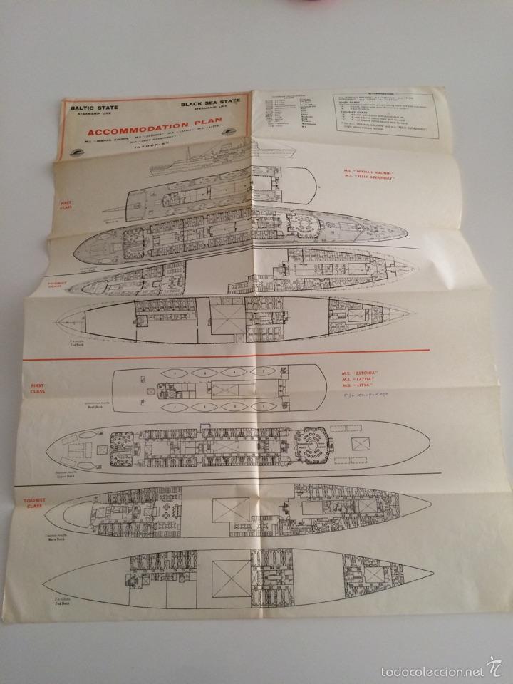 Líneas de navegación: Plano de acomodacion Baltic State Steamship line año 1950 - Foto 4 - 56811131