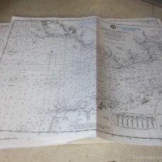 Líneas de navegación: CINCO CARTAS PARA PRACTICAS EXAMEN - ESTRECHO DE GIBRALTAR - ESCUELA BALEAR DE NAUTICA. Lote 133058161