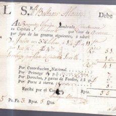 Líneas de navegación: DOCUMENTO. POLIZA. CONOCIMIENTO DE EMBARQUE. BERGANTI HOLANDES CONSTANCIA. LLEGADO DE AMBERES. Lote 56933643