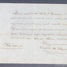 Líneas de navegación: CADIZ. 1859. FRAGATA GENERAL CHURRUCA. RECIBO DE ANTICIPO DE SUELDO. Lote 57338872