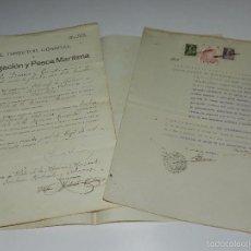Líneas de navegación: NAVEGACION - 4 DOCUMENTOS PARA PRACTICO , EL DIRECTOR GENERAL DE NAVEGACION Y PESCA MARITIMA 1931. Lote 57578328