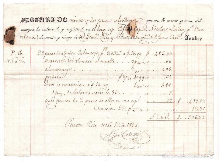 CONOCIMIENTO DE EMBARQUE DE BARCELONA A PUERTO RICO 1938 (Coleccionismo - Líneas de Navegación)