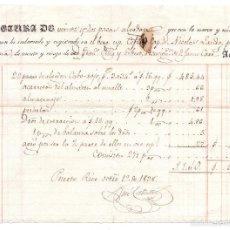 Líneas de navegación: CONOCIMIENTO DE EMBARQUE DE BARCELONA A PUERTO RICO 1938. Lote 57631697