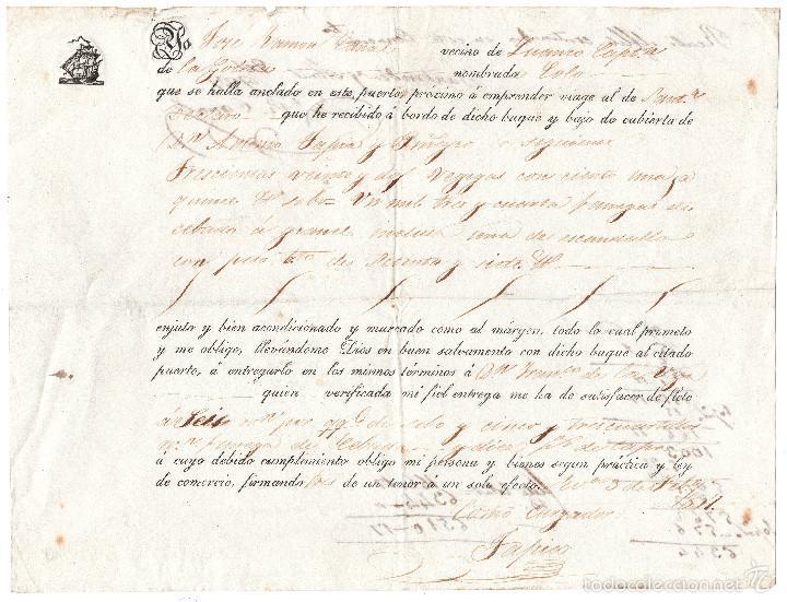 CONOCIMIENTO DE EMBARQUE EN SANTANDER 1937 (Coleccionismo - Líneas de Navegación)