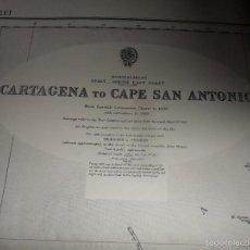 Líneas de navegación: CARTAGENA TO CAPE SAN ANTONIO. CARTA DE NAVEGACION. AÑO 1960.. Lote 57918360