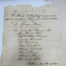 Líneas de navegación: MATANZAS. CUBA. 1866. RELACION DE PASAJEROS DE LA CORBETA GENERAL ECHAGUE PROCEDENTE DE CADIZ. Lote 58391833