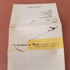 Líneas de navegación: IBERIA ANTIGUO FOLLETO/CARTA ENCUESTA DE SATISFACCIÓN. Lote 58538874