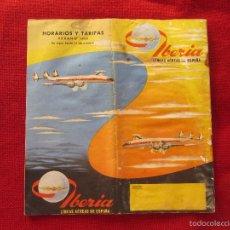 Líneas de navegación: IBERIA LINEAS AEREAS DE ESPAÑA. HORARIOS Y TARIFAS VERANO 1959. Lote 58568461