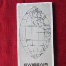 Líneas de navegación: MAPA DE SUIZA ITINERARIO SWISSAIR 1969BUEN. Lote 58674360